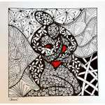 zentangle de chenel, le coupele