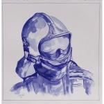 dessin-sur-commande-casque-de-pompier-30-x-30