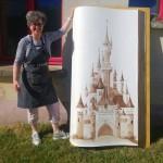Encre de CheNel : 168 x 93 cm : le château de la belle au bois dormant