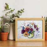 aquarelle de CheNel - bouquet de fleurs
