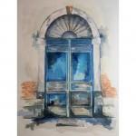 aquarelle de CheNel, porte vénitienne