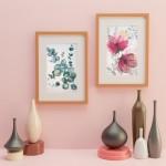 aquarelles de CheNel, eucalyptus et fleurs