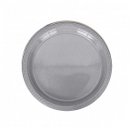 Palette : assiette blanche en plastique