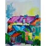 Encre de Chenel: La rue de la vallée des couleurs à Plélan le Petit