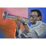 Chenel - Pastel sec - Miles Davis 70x50
