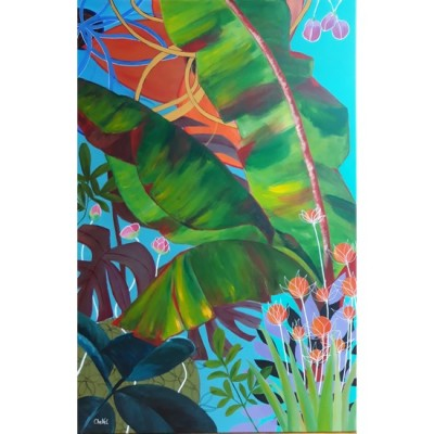 Tableau de CheNel - confinement tropical - 115 x 75