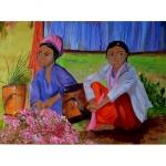 Tableau de Chenel - Les vendeuses de Jasmin 80 x 60