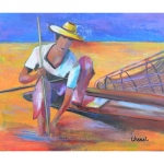 Tableau de Chenel - Le pêcheur Thaïlandais