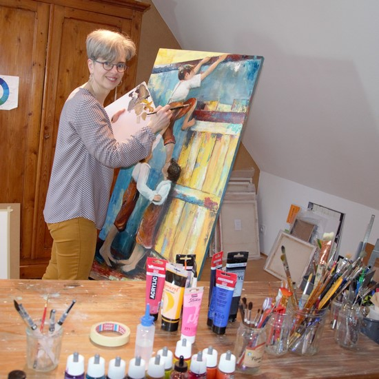 artiste peintre, professeur de dessin peinture